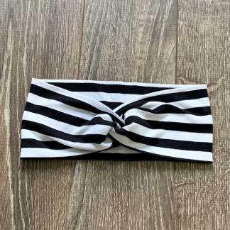 bandeau ligné noir et blanc