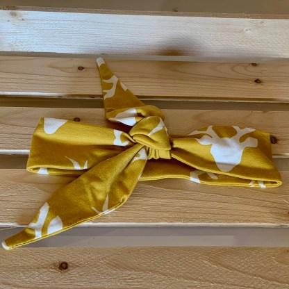 lune bandeau noeud cerfs jaunes