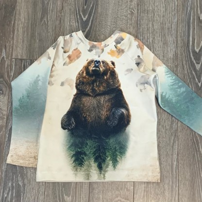 lune chandail ours 4-5 ans
