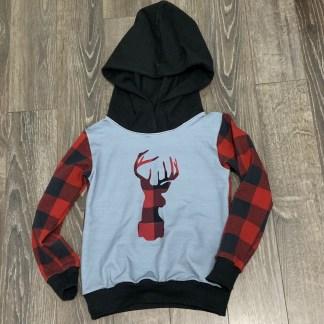 lune hoodie cerf rouge