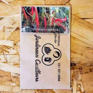 piment de cayenne semis québec les jardineux cueilleurs