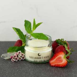 chandelle bougie l'attrape-luciole fraise rhubarbe
