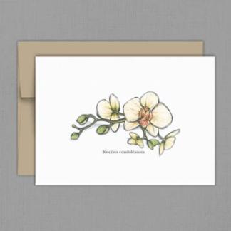 fêtes grenadine carte condoléances orchidées