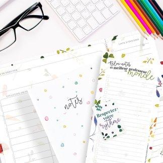cadeau professeur carnet de notes bloc-notes, planificateur menu