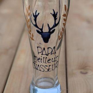 cadeau fête des pères verre à bière chausseur