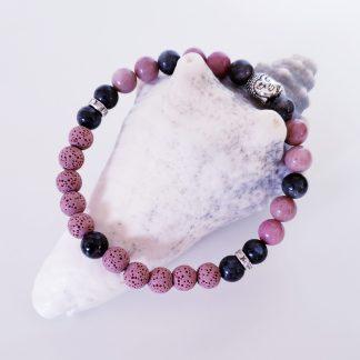 création dominique bracelet de cheville rose et gris