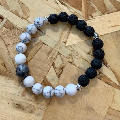 créations dominique bracelet noir et blanc