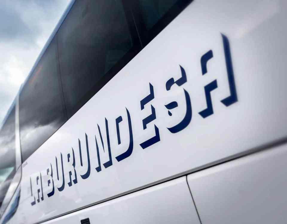 La Burundesa autobús a Bilbao, Vitoria, Irún, Santander