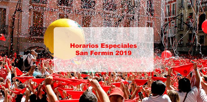 Horarios San Fermín 2019