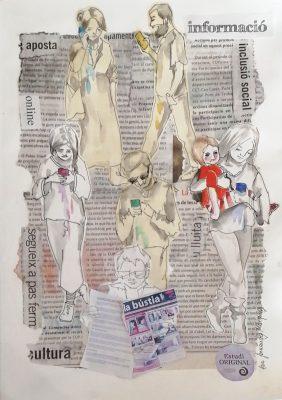 La Bustia dibuix Eva Fernandez Olesa