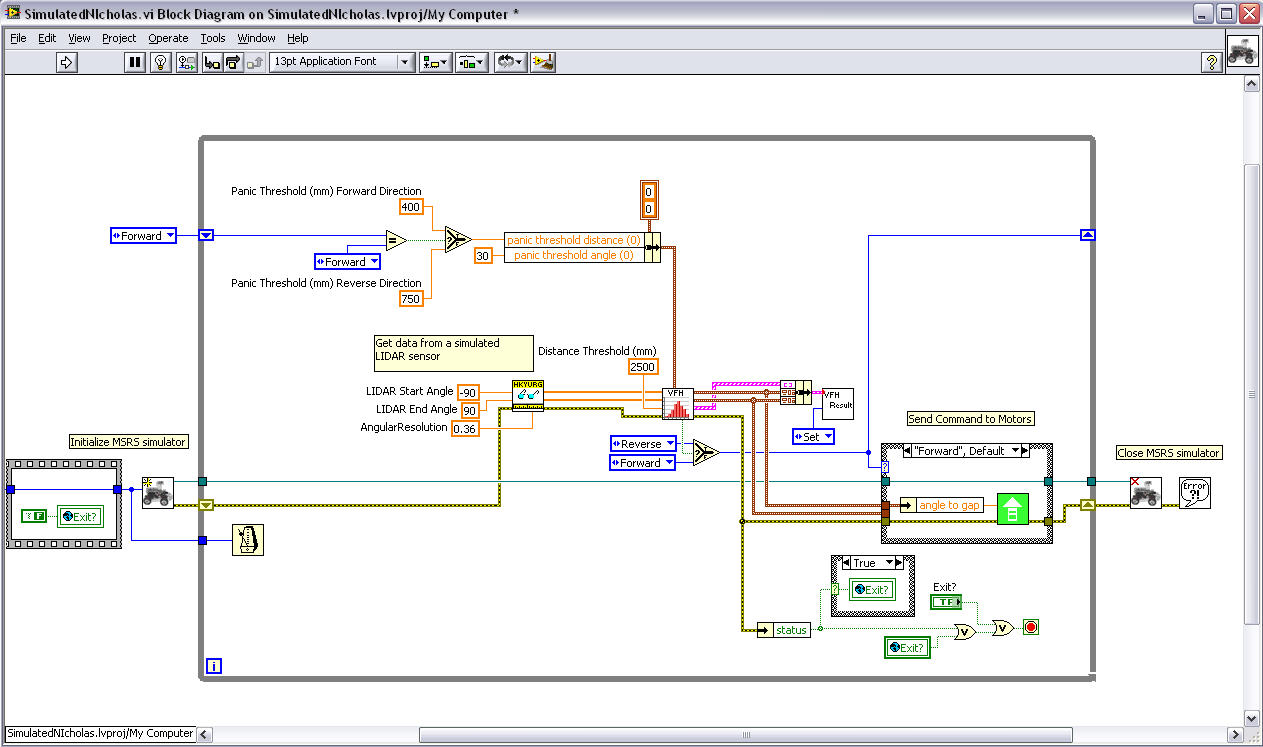 hight resolution of simulator labview robotics here is a high level block diagram of the robot code