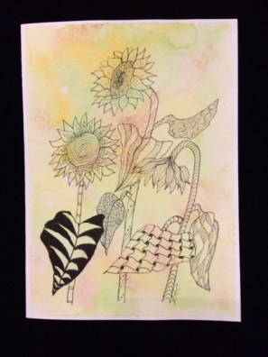 Card Sunflowers LR