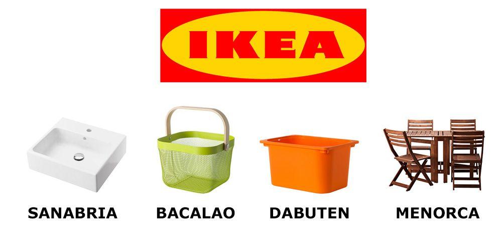 Así se llamarían los muebles de Ikea en español