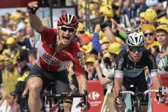 Greipel no podía ocultar su alegría, al saberse vencedor en Zélande.