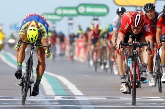 Peter Sagan, fue capaz de disputarle al demoledor Greipel, especialista del sprint, una llegada milimétrica.