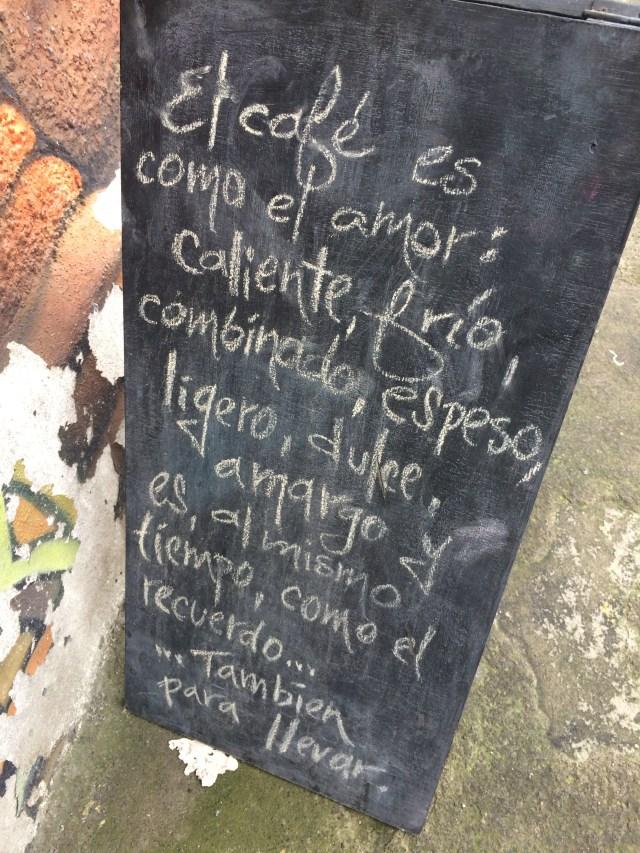 Letrero de Café SeaHouse, San Pedro.