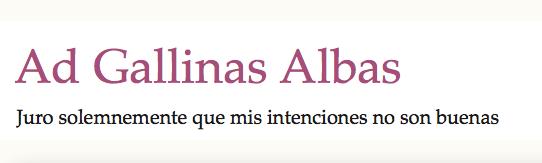 Ad Gallinas Albas