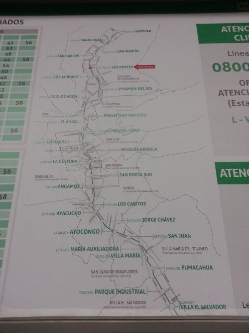 Lima has one train system.