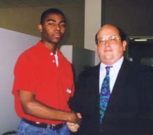 with Tom Tait of Junior Achievement SoCal, 1998 - 1999
