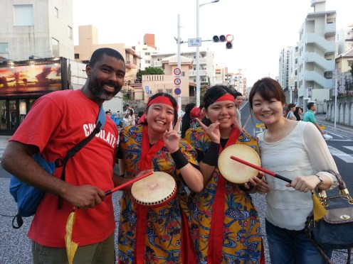 After dinner we happened upon a Kokusai street performance