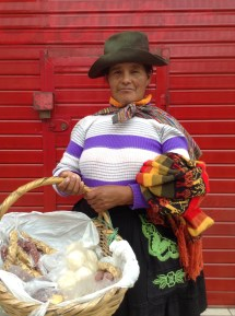 This is a photo taken of a shrewd business-woman in Cañete. She would not let me take her photo unless I paid her.