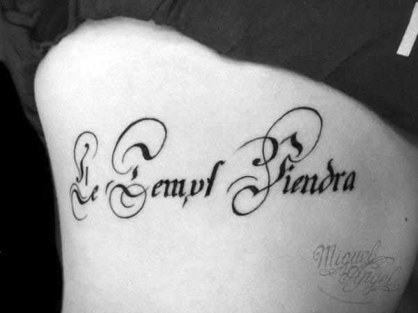 Caligrafía Para Tatuajes Escrita A Mano Romana Y Gótica La