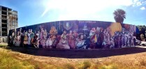 One of the larger murals in the downtown area.