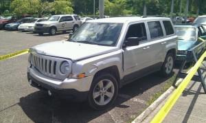 Jeep Patriot que conducía el presunto asesino del doctor Pedraza