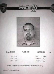 Ficha de Gabriel Alejandro Sánchez Flores, a quien se le imputa dejar desnutridas a sus mascotas.
