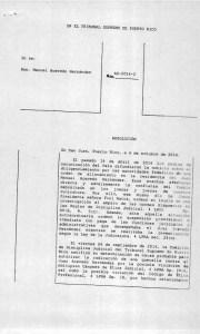 Resolución del Tribunal Supremo suspendiendo de empleo y sueldo al juez Manuel Acevedo Hernández (Página 1; Haga click para ampliar).