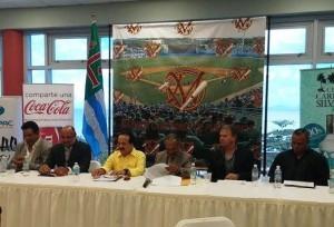 Conferencia de prensa de la presentación de la nueva edición de los Indios de Mayaguez en el Béisbol Invernal.