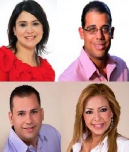 En la parte superior, los senadores incumbentes por el Distrito Mayaguez-Aguadilla Mari Tere González y Gilberto Rodríguez; seguidos de los exsenadores Luis Daniel Muñiz y Evelyn Vázquez (Fotomontaje LA CALLE).