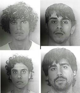 En el orden acostumbrado: (Arriba) Alvin Díaz, Javier Santana; (abajo) Kérmit Cintrón y Rafael González (Suministradas Policía).