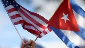 Banderas de Cuba y USA