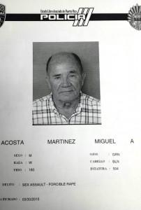 """Ficha policíaca del """"abuelastro"""" acusado de abuso sexual (Suministrada Policía)."""