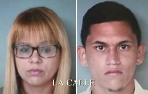 Ileana Martínez Santana y Raúl Sepulveda Torres, arrestados por fumar marihuana frente a un menor en Boquerón (Suministrada Policía).