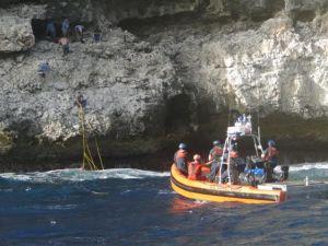 Lugar donde fue abandonado el grupo de cubanos (Suministrado Coast Guard).