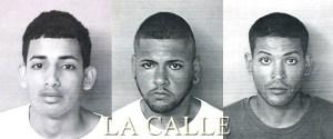 De izquierda a derecha: Rafael Pousa Ortiz, Hendrick Valentín Rivera y Gabriel Ramos Valentín (Suministradas Policía).