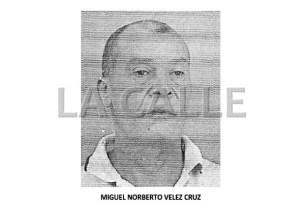 Foto de la ficha de Miguel Norberto Velez Cruz (Suministrada Policía).