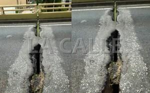 Condición en que se encuentra actualmente el puente del Viaducto de Mayagüez (Fotos Facebook - Fotomontaje LA CALLE Digital).