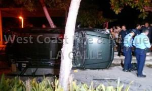 Escena del accidente ocurrido en el área de El Litoral de Mayagüez (Foto West Coast Fire & Rescue).
