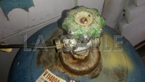La explosion se produjo cuando intentaron cambiar la válvula del tanque de gas (Foto LA CALLE Digital).