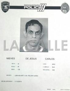 Ficha de Carlos Nieves De Jesús (Suministrada Policía).