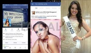 """Capturas de pantalla de la red social de Facebook, de las que surge que la nueva Miss Puerto Rico Universe, Kristhielee Caride, es empleada de la tenedora de la franquicia de ese certamen, Desiree Lowry. Haga """"click"""" sobre la imagen para ampliarla. (Fotos Facebook)."""