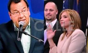 """El comisionado electoral del PNP, Jorge Davila, fue denunciado por supuestamente """"alterarle la paz"""" a la presidenta de la CEE, Liza García."""