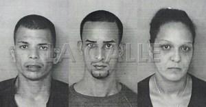 Fotos de las fichas de Christopher Medina Vélez, Eduardo Méndez Méndez y Gladys Torres Hernández (Suministradas Policía).