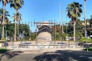 Lugar donde estará la estatua del prócer mayagüezano (Foto Junior Rivera).