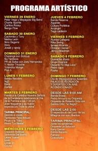 """Itinerario de las Fiestas Patronales de Mayagüez para el 2016. Haga """"click"""" sobre la imagen para ampliarla (Suministrada)."""