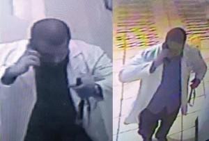 Este es el presunto asesino, captado por las cámaras de seguridad del Hospital San Antonio (Suministradas Policía).