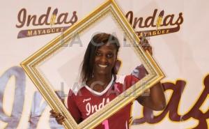 Kim Willoughby, de las Indias de Mayagüez en el Voleibol Superior Femenino (Foto Indias de Mayagüez).